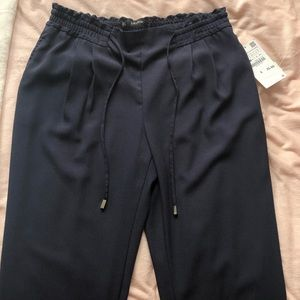 Zara basic navy loose pants